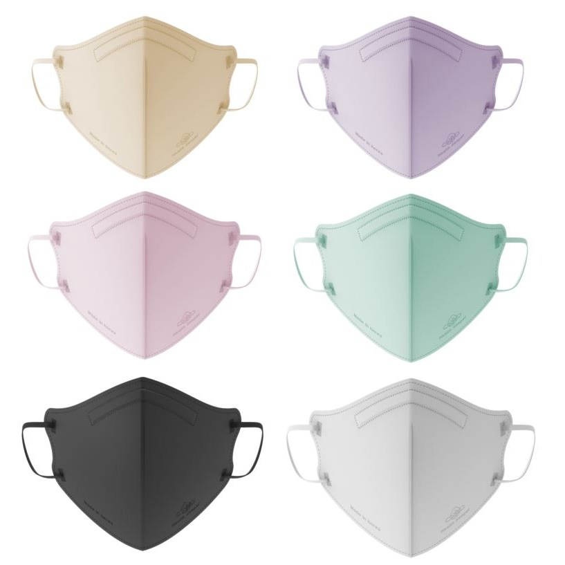 헬스키퍼플러스 컬러마스크 새부리형마스크 5색혼합 비말차단 숨쉬기편한 국산마스크, 핑크+민트+퍼플+베이지+블랙(혼합 5매), S