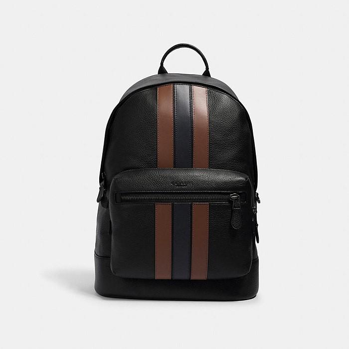 [코치가방]남성가방/메신저백/서류가방West Backpack With Varsity Stripe