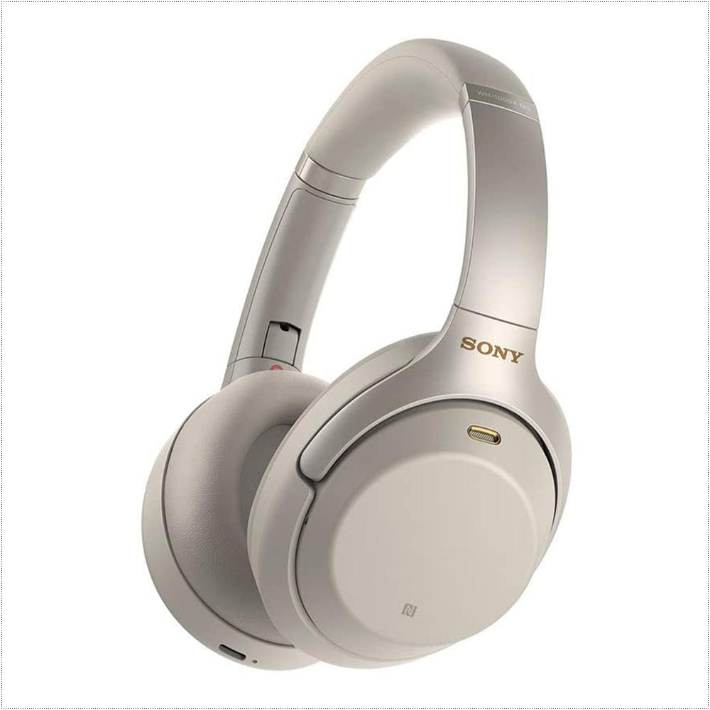 소니 노이즈 캔슬링 헤드폰 WH1000XM3, Silver