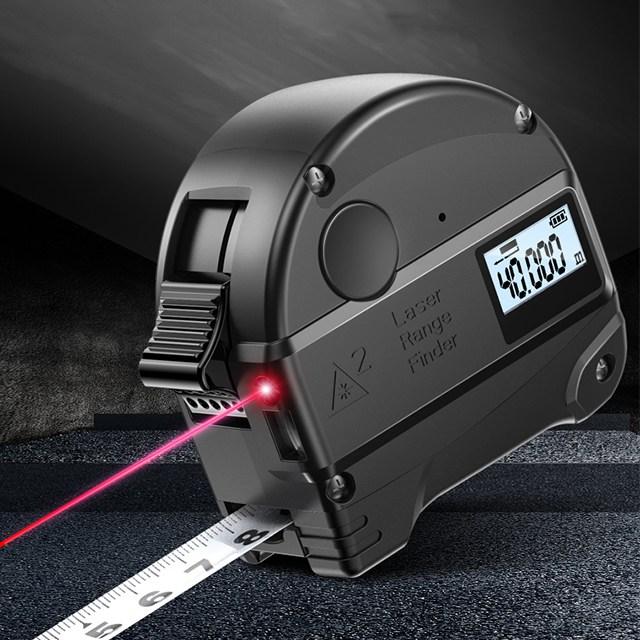휴대용 줄자 겸용 레이저 거리측정기 30m 40m 블랙 FG, A타입 30m