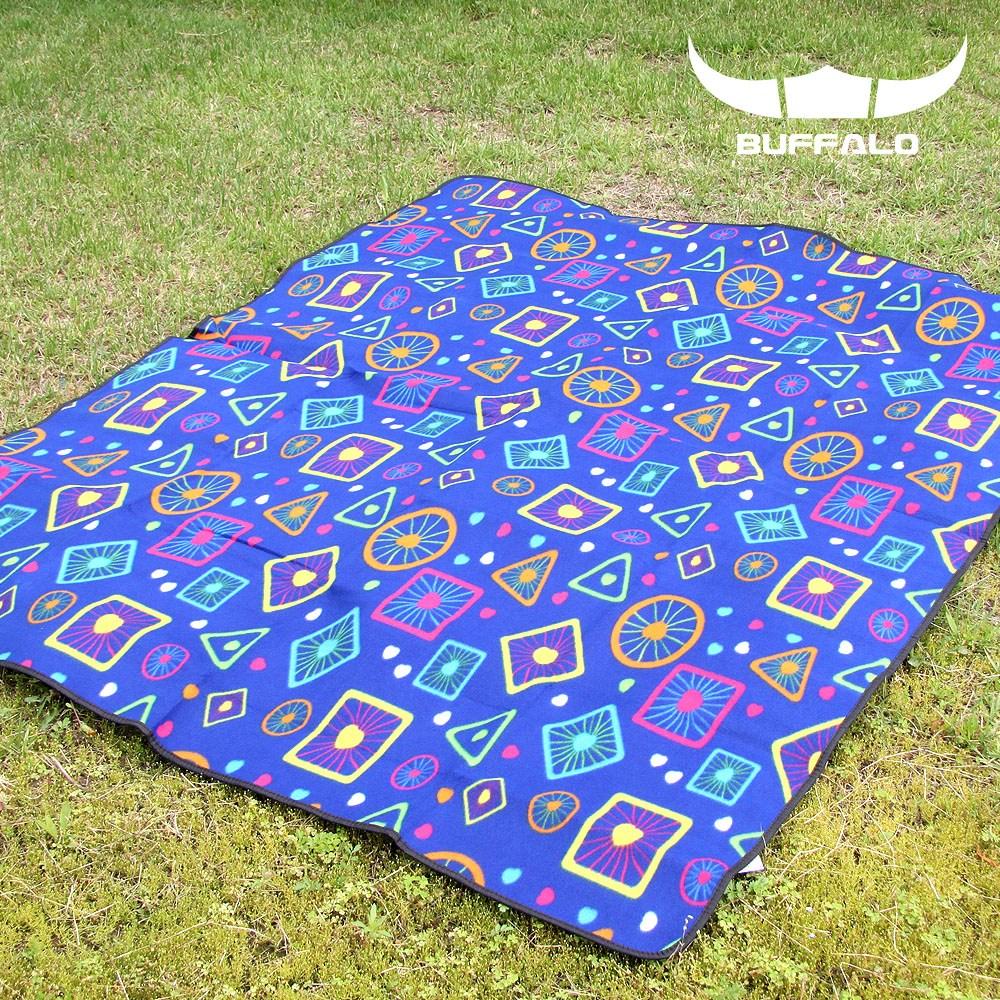 버팔로 캠핑 피크닉 플리스 매트 180x150, 블루