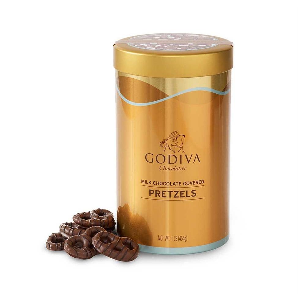 GODIVA Chocolatier 고디바 Milk Chocolate Covered Pretzels Gift 밀크초콜릿 프레즐, 1개