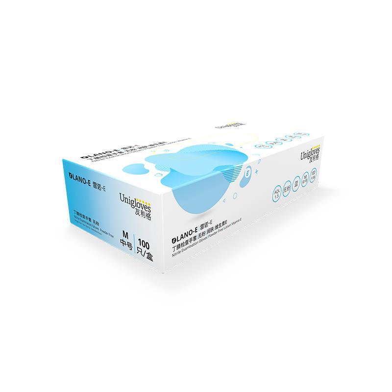 고무장갑 Unigloves일회용 장갑 민트 청향 생물 실험실 과학연구 라텍스, T02-S, C03-블루(르노 E-블루)