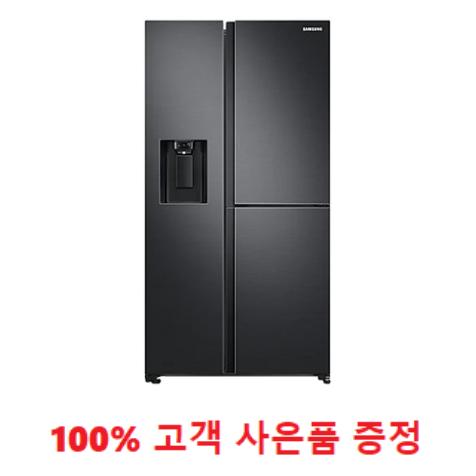 사은품증정/삼성 양문형 3도어 얼음정수기 냉장고 805L 블랙 리얼메탈 (RS80T5190B4) 1666-4175
