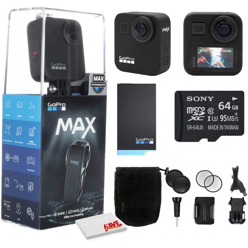 GoPro MAX 360 방수 액션 카메라-카메라 W / 터치 스크린-구형 5.6K30 HD 비디오-16.6MP 360 사진-1080p 라이브 스트리밍 안정, 단일옵션