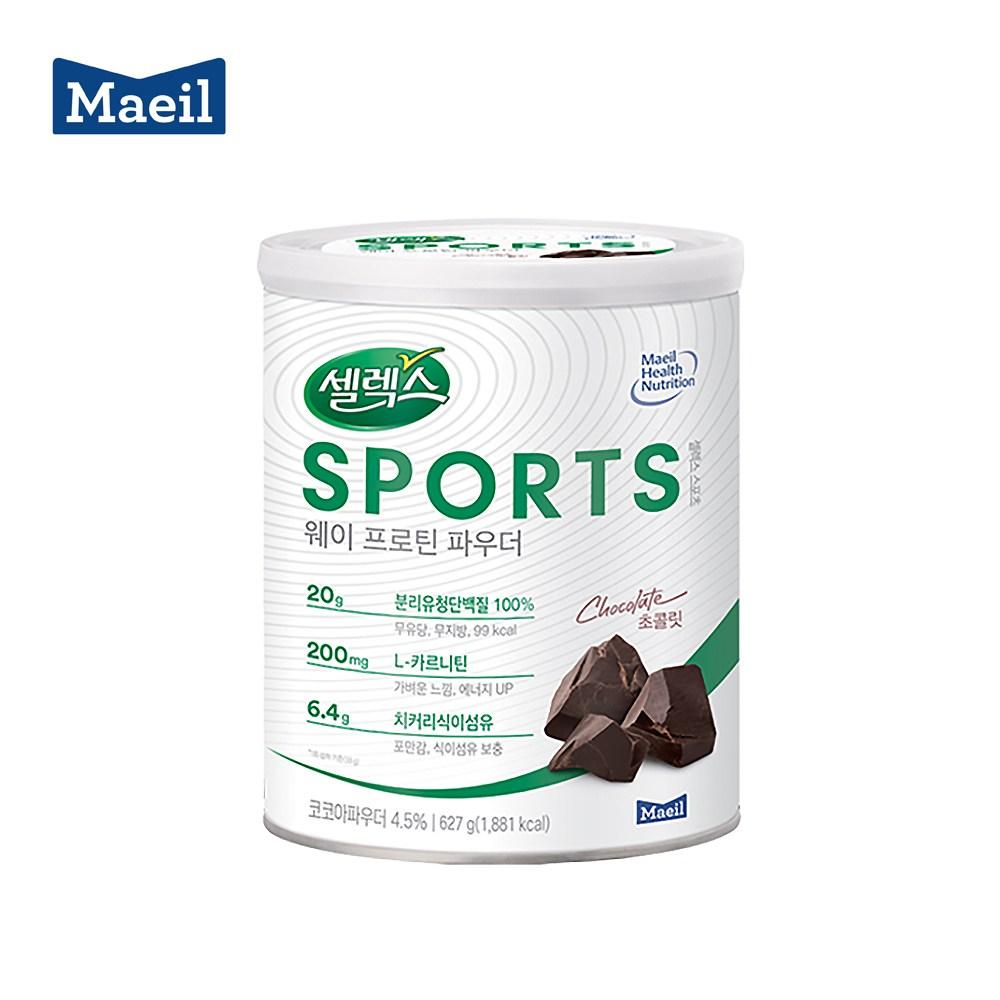 매일유업 셀렉스 스포츠 웨이 프로틴 파우더 캔 대용량 627g, 복숭아맛