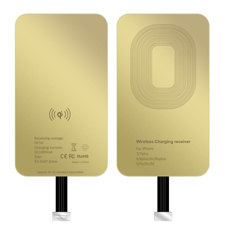 QI 무선 충전기 수신기 아이폰 5 S 7 7 PLUS 6 6 PLUS 범용 무선 충전 수신기 마이크로 USB TYPE-C 전화, Micro B (POP 5707383012)