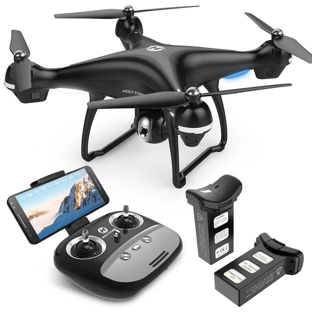 홀리스톤 HS100 GPS 대형 촬영용 드론 배터리2개 30분 비행시간 사은품 추가 부품세트 무료증정 국내AS 한글설명서
