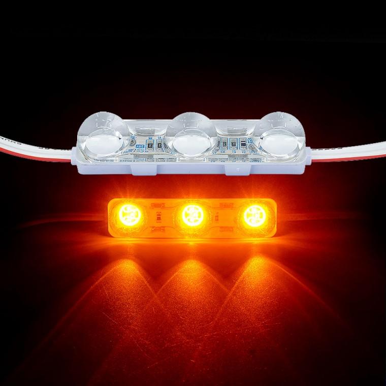 국산24V용 렌즈형 5050 3칩 LED바 3구모듈 옐로우LED - (1개가격) 추천 파는곳, 상세페이지 참조