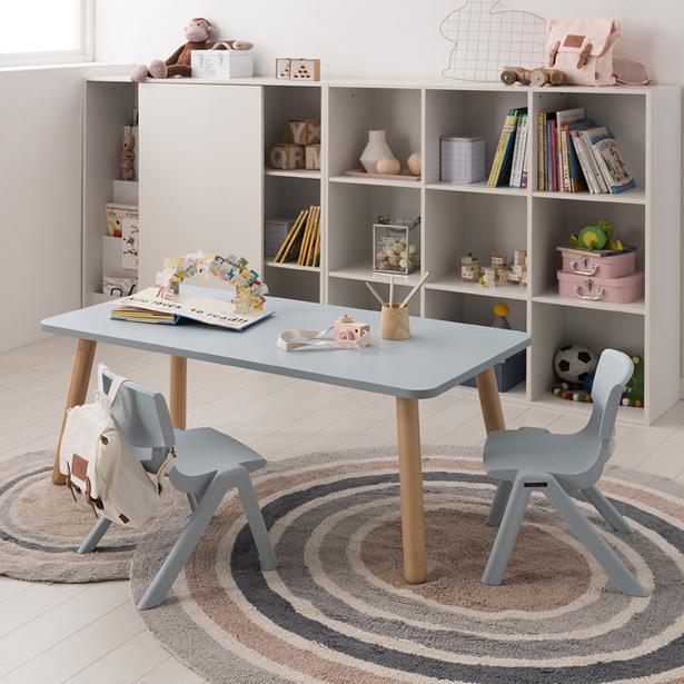 리바트온라인 꼼므 1200 아이책상+의자 세트, 핑크