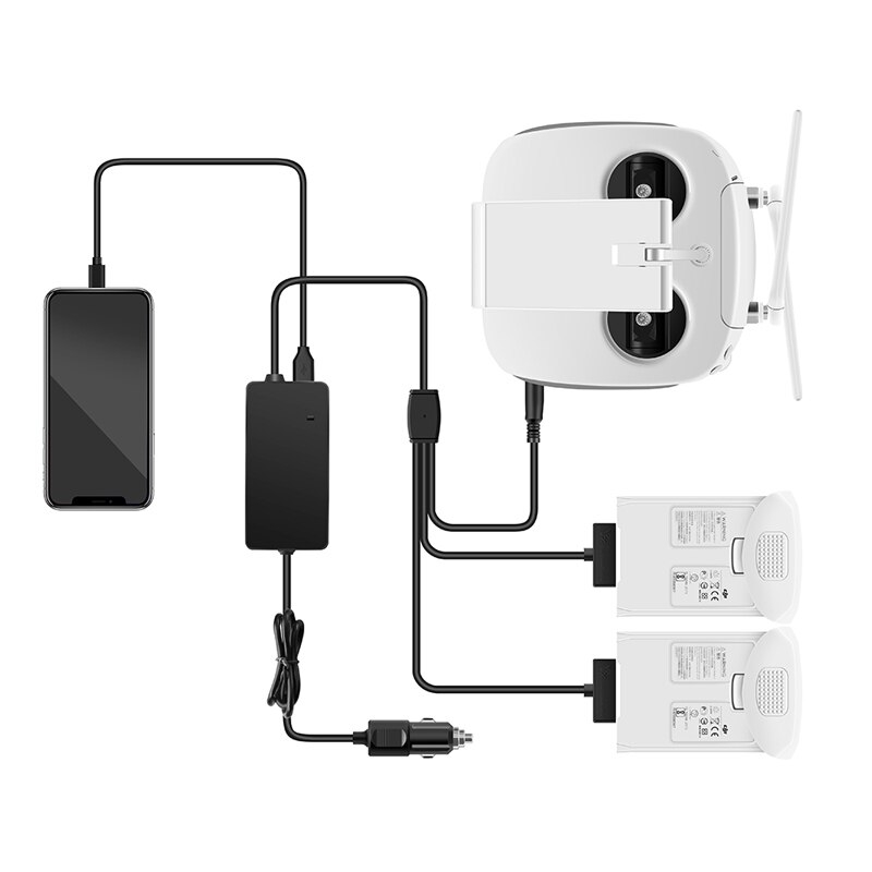 DJI 팬텀 4 Pro 고급 드론 배터리 원격 제어 차량 충전기 휴대용 고속 야외 여행용 차량용 충전기