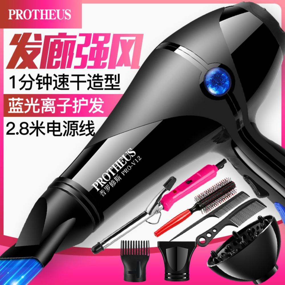헤어 드라이어 가정용 파워 헤어 살롱 음이온 냉온 드라이기, 헤어 살롱 강풍 6000 Blu-ray Protector 6+ Curler