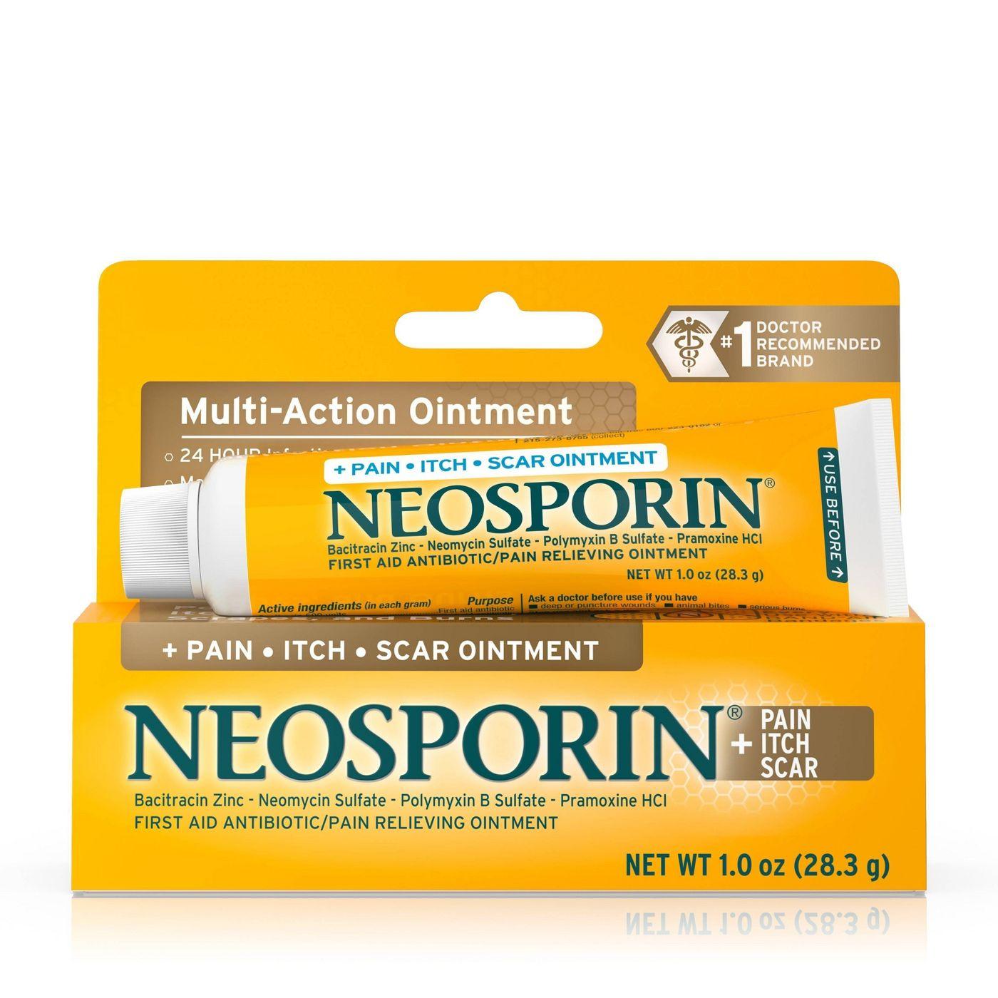 네오스포린 상처연고 _ Neosporin First Aid Antibiotic/Pain Relieving Ointment - 1 oz