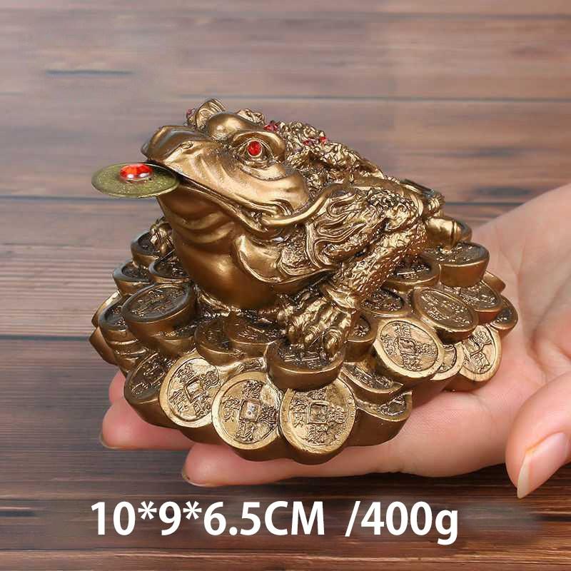 칠나무 장식품 두꺼비 풍수 대박 돈더미 삼족두꺼비 복두꺼비 수지 WDD0813-03, 사진색J