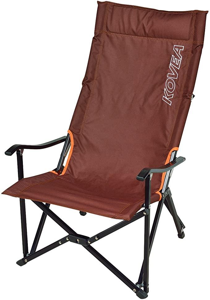 KOVEA (코베아) 접이식 의자 LOW LONG RELAX CHAIR [수납 케이스 포함] 길고 앉아도 편안 [정품] 브라운 KECT9CA-02