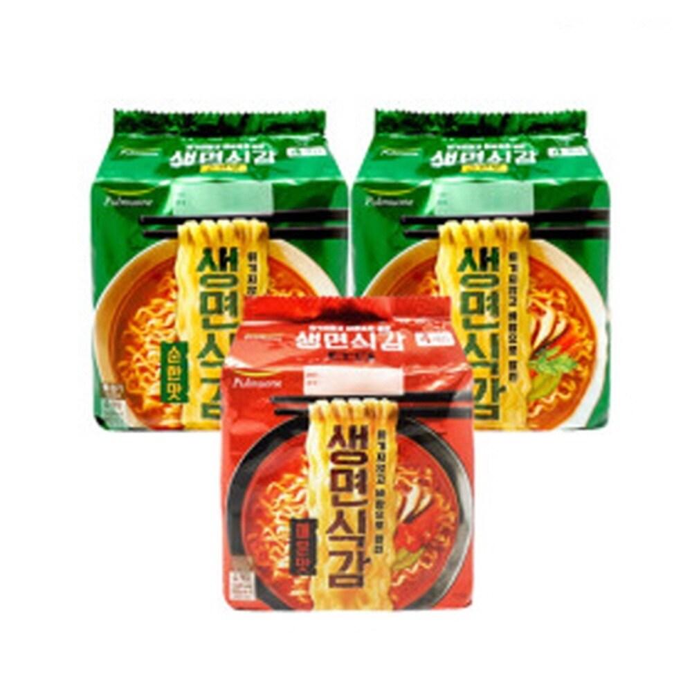 [신세계TV쇼핑][풀무원]생면식감 생라면 순한맛+매운맛(각4개입x2봉/총16개입), 단일상품