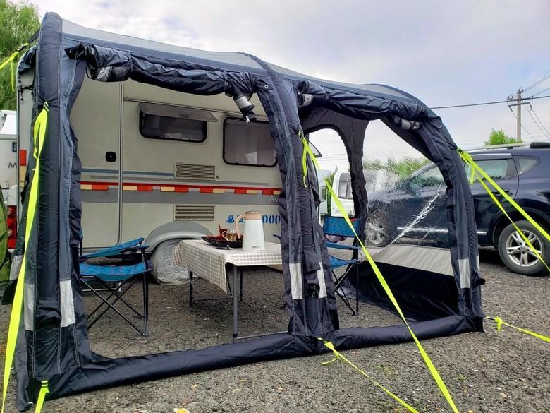 캠핑카 도킹텐트 SUV 차박 텐트 대형 에어빔텐트, 길이 3.3m x 폭 2.5m x 높이2.4-2.6m