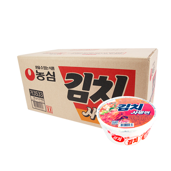 농심 김치사발면(24입), 24입