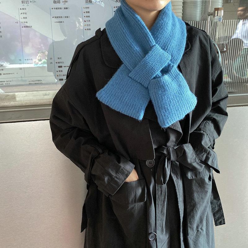 겨울 여성 니트 포켓 머플러 트랜스포머 쁘띠 목도리