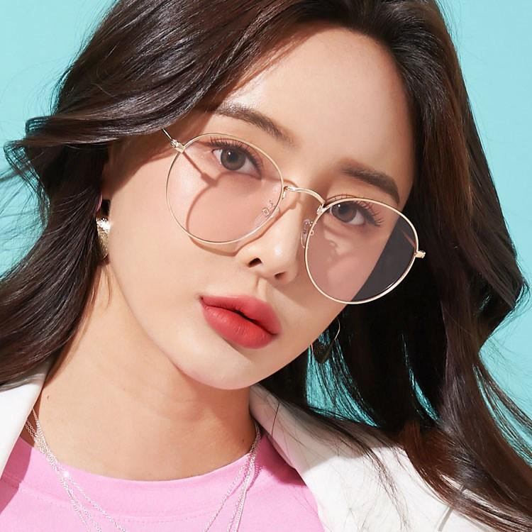 멜라크메 오버사이즈 핑크틴트 안경 선글라스