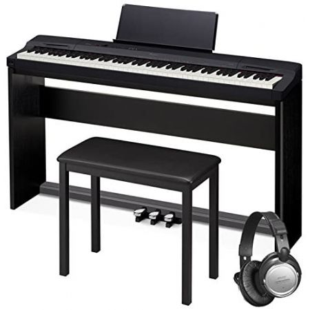 Casio PX-160 Privia Touch Sensitive 88 Key Tri Sensor Scaled Hammer Action Keyboard Digital Piano wi, One Color, 상세 설명 참조0