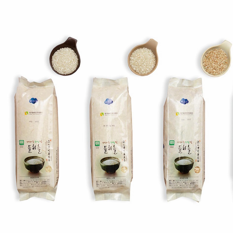 들하늘 유기농 오분도미 10kg (1kg 소포장 x10봉) 2020년 햅쌀, 10봉, 각 1kg