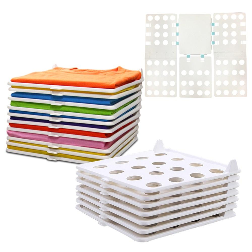 주부홀릭 옷정리트레이 30p(일반형)+옷접는 폴더, 1box