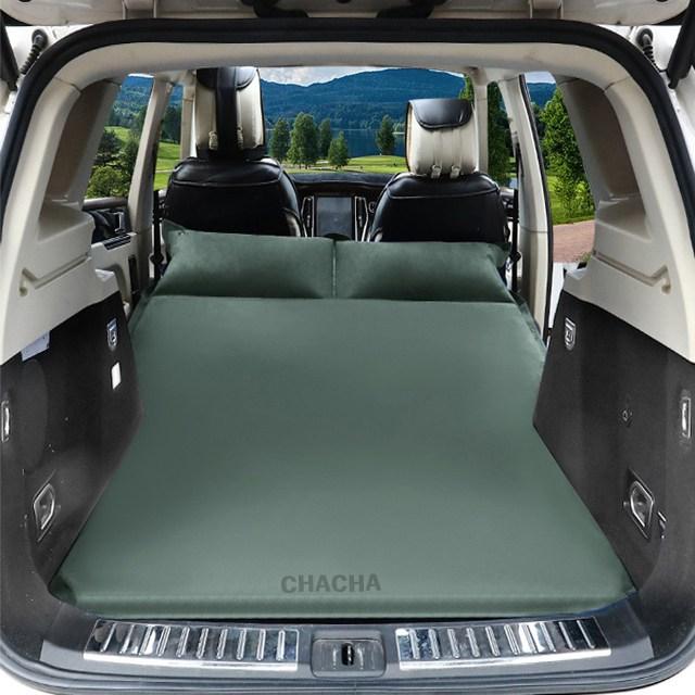 chacha 차량용 에어매트 RV SUV 뒷좌석 매트 자동차 침대(그린06) 팰리세이드 올뉴카니발 스포티지 싼타페, 선택6 그린(벨벳)