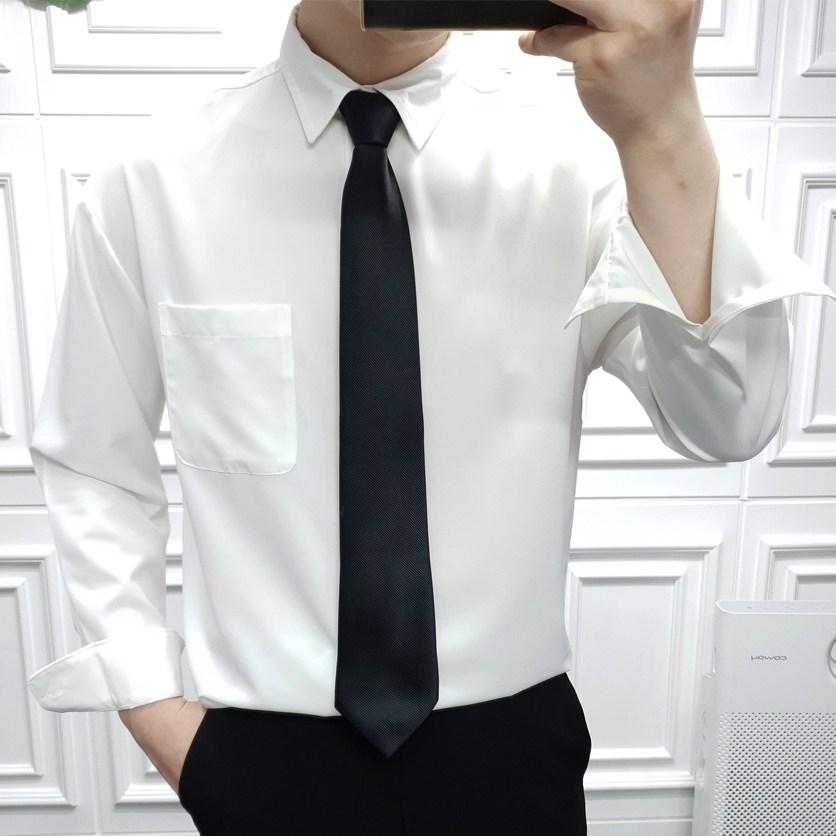 프롬엘 16컬러 남자 세미오버핏 링클프리 스판 정장 와이셔츠 남방