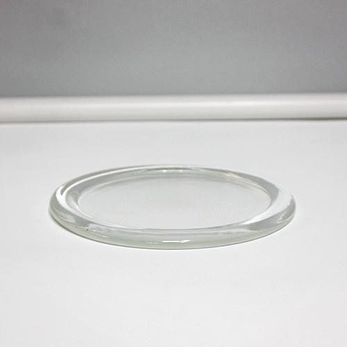 [바보사랑]유리 초받침 캔들 트레이 (대), 1개