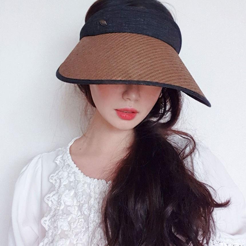 이코마켓 UV차단 여자 밀짚모자 밀짚썬캡 린넨 여성썬캡 여름썬캡 자외선차단모자 선캡모자 썬바이저 (POP 1452408435)