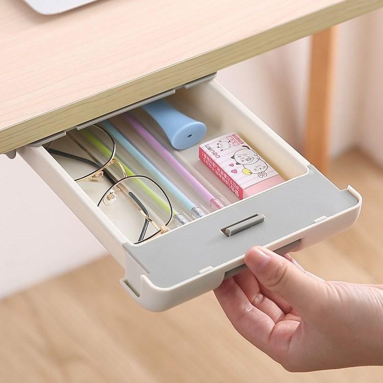 [투썬빌리지] 슬림디자인 언더서랍 3color - 미니서랍 포켓서랍 소품정리, 그레이