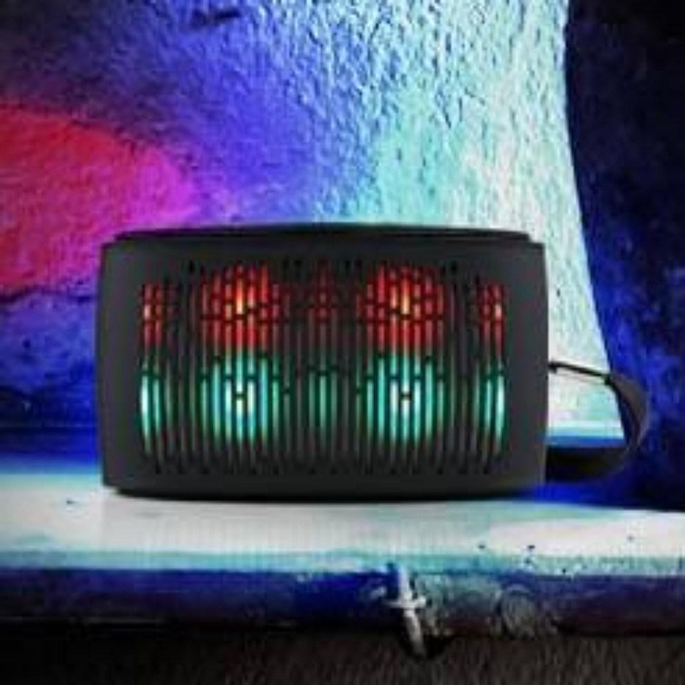 캠핑스피커 미니 LED, 블랙, 상품선택