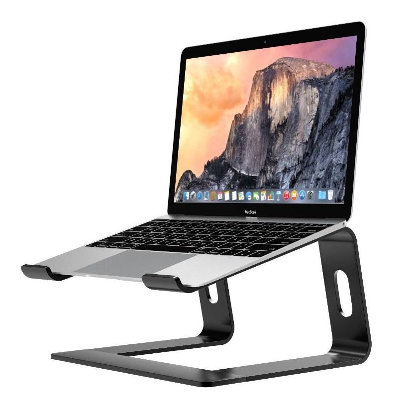굿밸류 (좋은가치) 맥북 노트북 거치대 알루미늄 거치대 쿨링패드 발열 게이밍, 그레이-2-4810380604