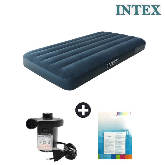 인텍스 듀라빔 에어매트+가정용전동펌프+수리패치
