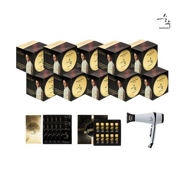 [순수] [와인브라운] 2020 최신상 염색약 더 살롱 컬러 골드라벨 10박스(염색제+트, 상세 설명 참조
