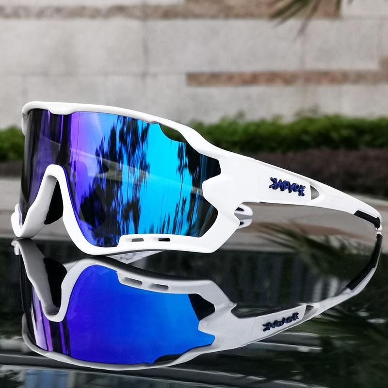 MTB 자전거 안경 남자 여자 사이클링 선글라스 Uv400 편광 된 자전거 안경 스포츠 레이싱 타고 고글 ciclismo 1 렌즈|사이클링 안경류|