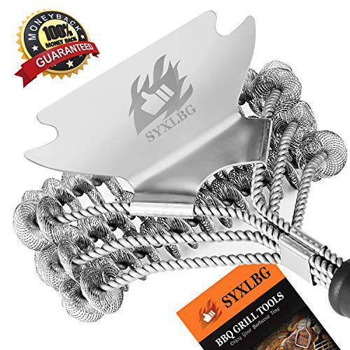 17 inch Grill Brush and Scraper Bristle Free Stainless Steel/13309643, 상세내용참조