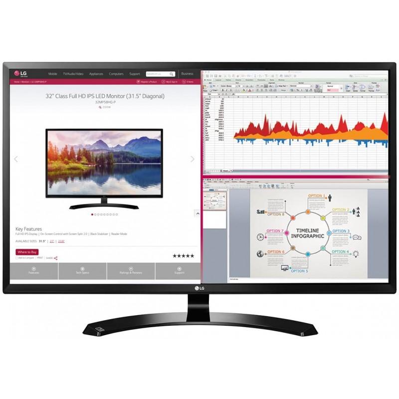 LG 32MA70HY-P 32 인치 Full HD IPS 모니터 Display Port 및 HDMI 입력, 단일옵션