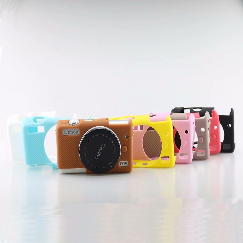 캐논 eosr r m100 바디 디지털 카메라 전용 실리콘 갑옷 스킨 케이스 바디 커버 프로텍터, 1개, EOS R yellow^+2780
