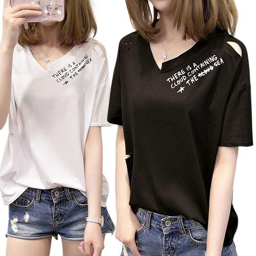 [여성패션] 리더스타 여성반팔티 화이트+블랙 2장 박시핏 반팔 티셔츠 - 랭킹41위 (29800원)