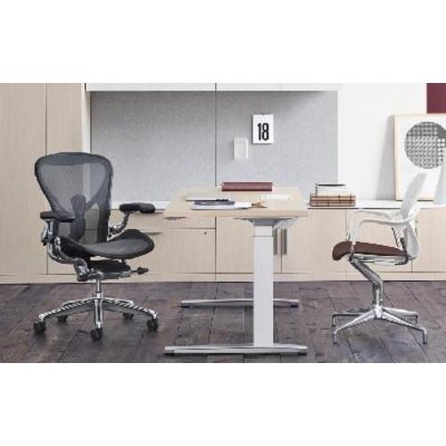 [HERMANMILLER] 허먼 밀러 에어론 인체공학의자 척추보호대 가정용 컴퓨터 의자, 02 강철로 만든, 01 승강 손잡이, 01 흑연 올인원 4D 팔걸이 앞판 트럼펫