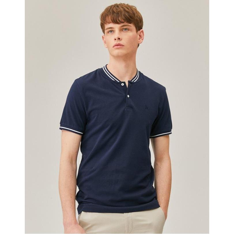 헤지스 남성용 라인배색 면 반팔 티셔츠 WHTS9B054N2