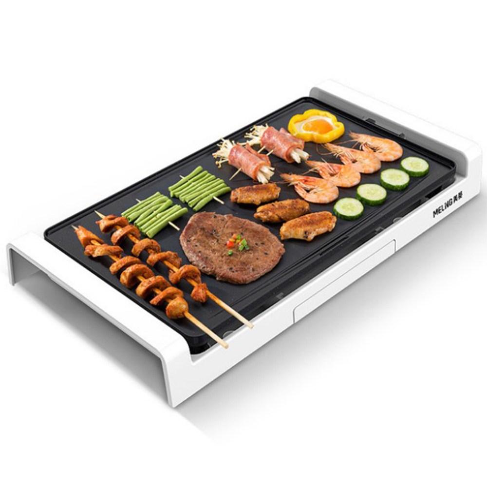 메이링 고기불판 전기그릴 고기굽는기계, 화이트