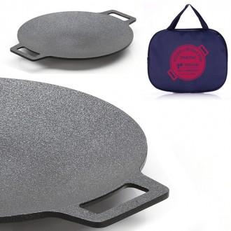 전용가방포함 멀티그리들팬 구이 볶음 캠핑 그릴팬, 선택: 키친아트 멀티그리들팬29cm