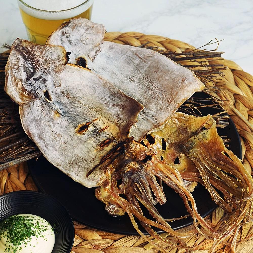 국내산 마른오징어 10미 동해안 건오징어 350g 500g 내외 쫄깃한 국산 오징어, 1개, 10미 중사이즈 마른오징어 (350g 내외)
