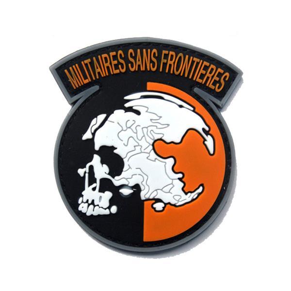 ⊙♭한정판매◎ 제작 군인용품 pvc 패치 와펜 밀리터리룩 sans frontieres (Qnc†!)