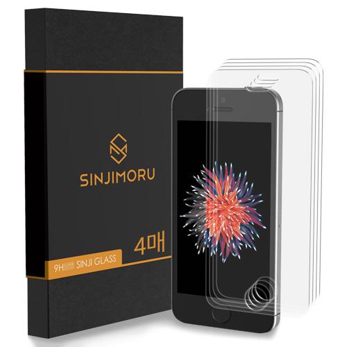신지모루 2.5D 강화유리 휴대폰 액정보호필름, 4개입
