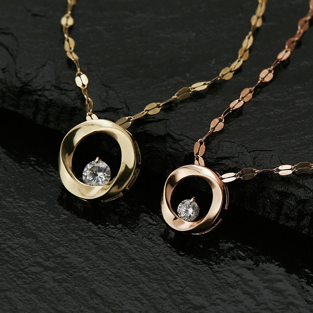 에바주얼리 14K 듀링블랑 금 체인 데일리 심플 행운 여성 목걸이 생일선물 와이프 선물
