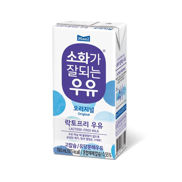 매일 소화가 잘되는 우유, 190ml, 16팩